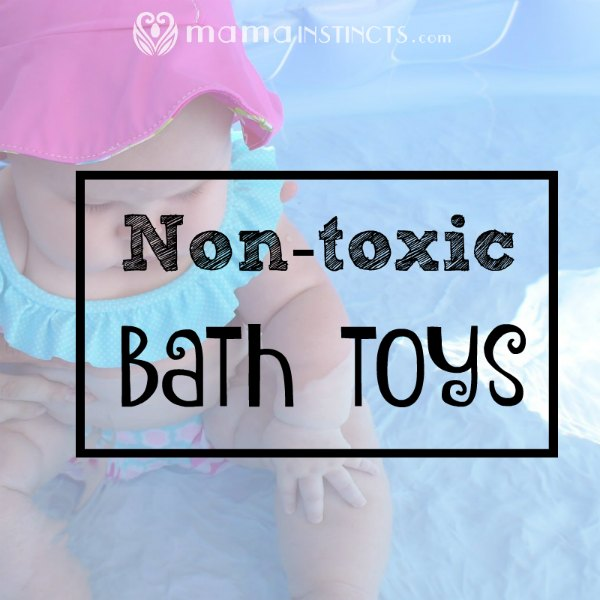 Find out which toys are non-toxic for your baby's bath time. Don't just let them chew on any toy! #toys #babytoys #nontoxictoys #nontoxic