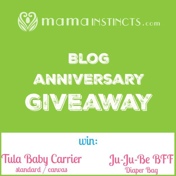 Blog anniversary giveaway: win a Tula Baby Carrier or a Ju-Ju-Be Diaper Bag