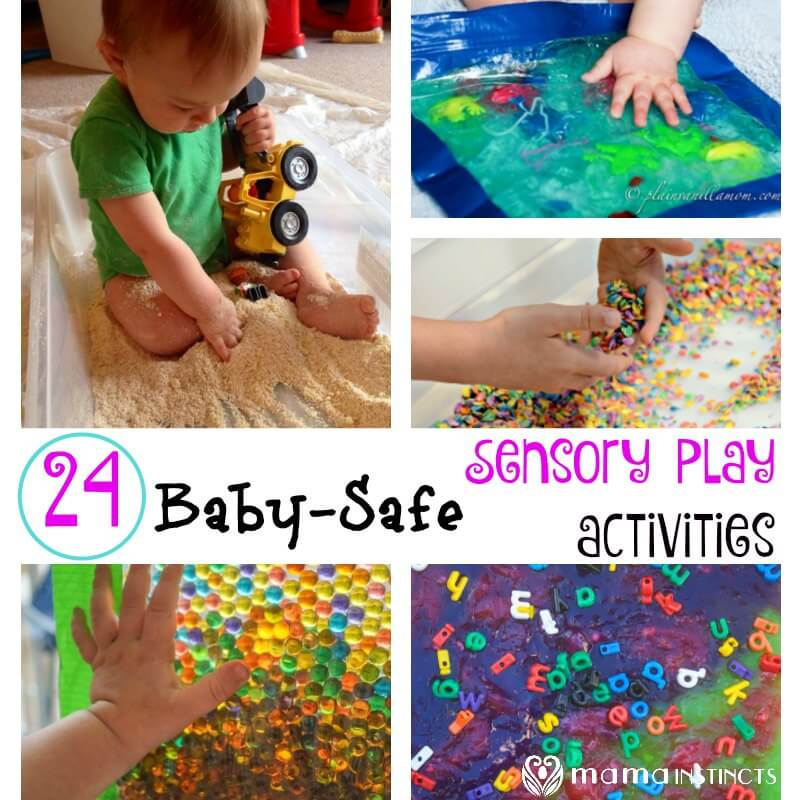 24 Baby Safe Sensory Play Activities Mama Instincts