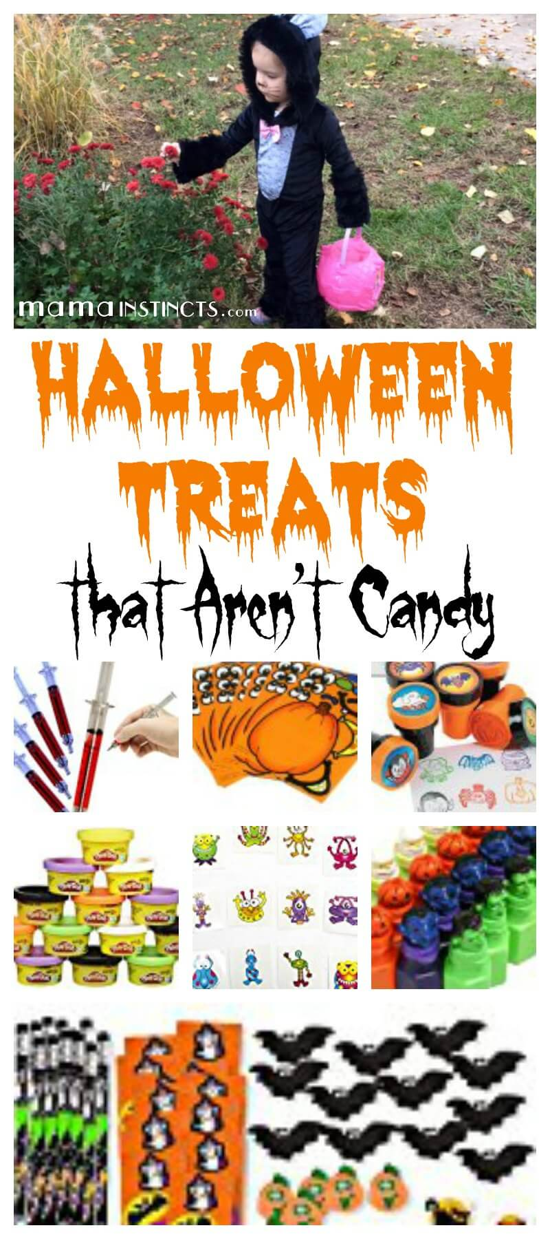 Make this Halloween a fun one but without all the unnecessary sugar. Get these fun and creepy candy alternatives for your trick-or-treaters on Halloween night.