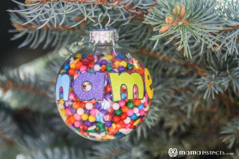 personalized christmas ornament that kids can make  u2013 mama