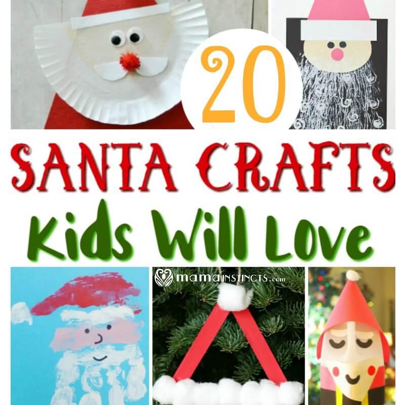 20 Santa Crafts kids will love