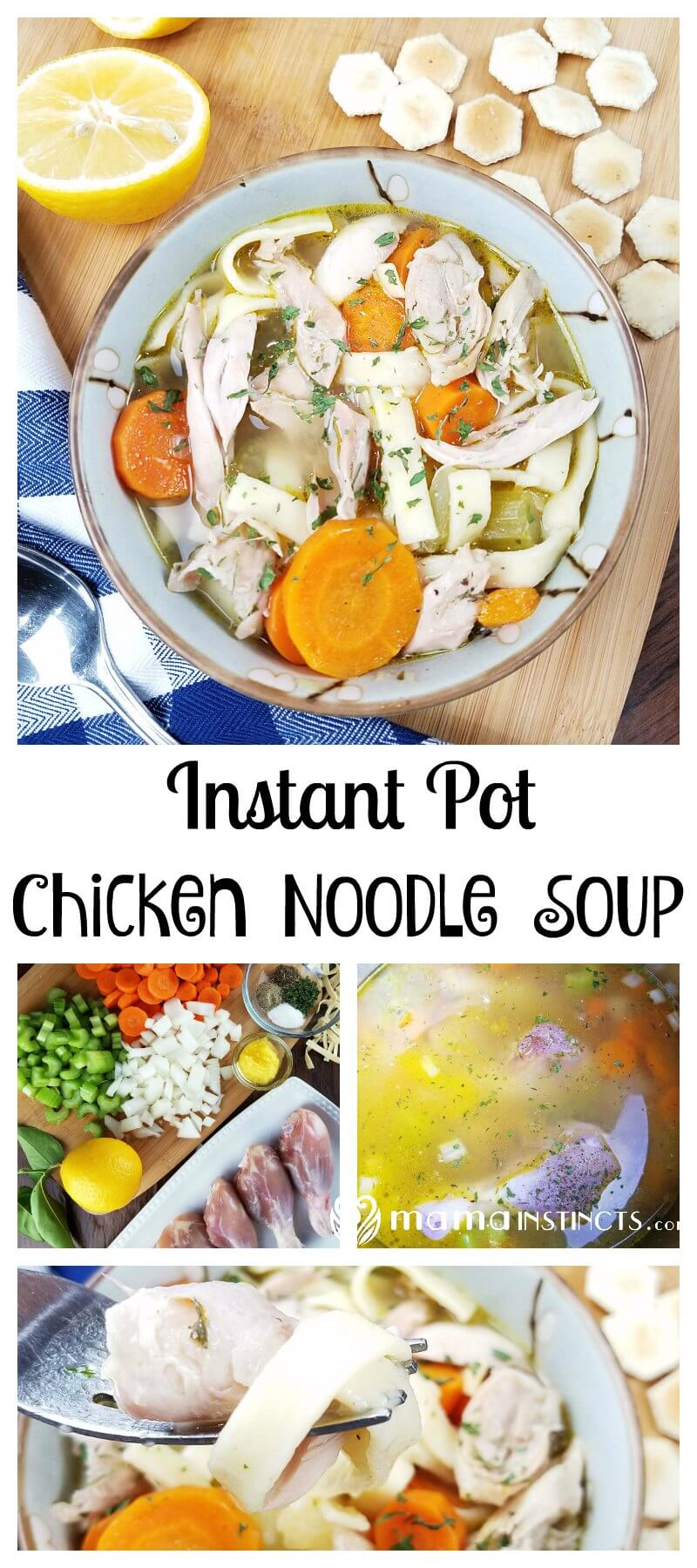 Try this delicious chicken noodle soup in your instant pot. It takes less than 10 minutes to cook and it's so tasty. Perfect for those days when you need a quick meal or you're feeling a little sick.