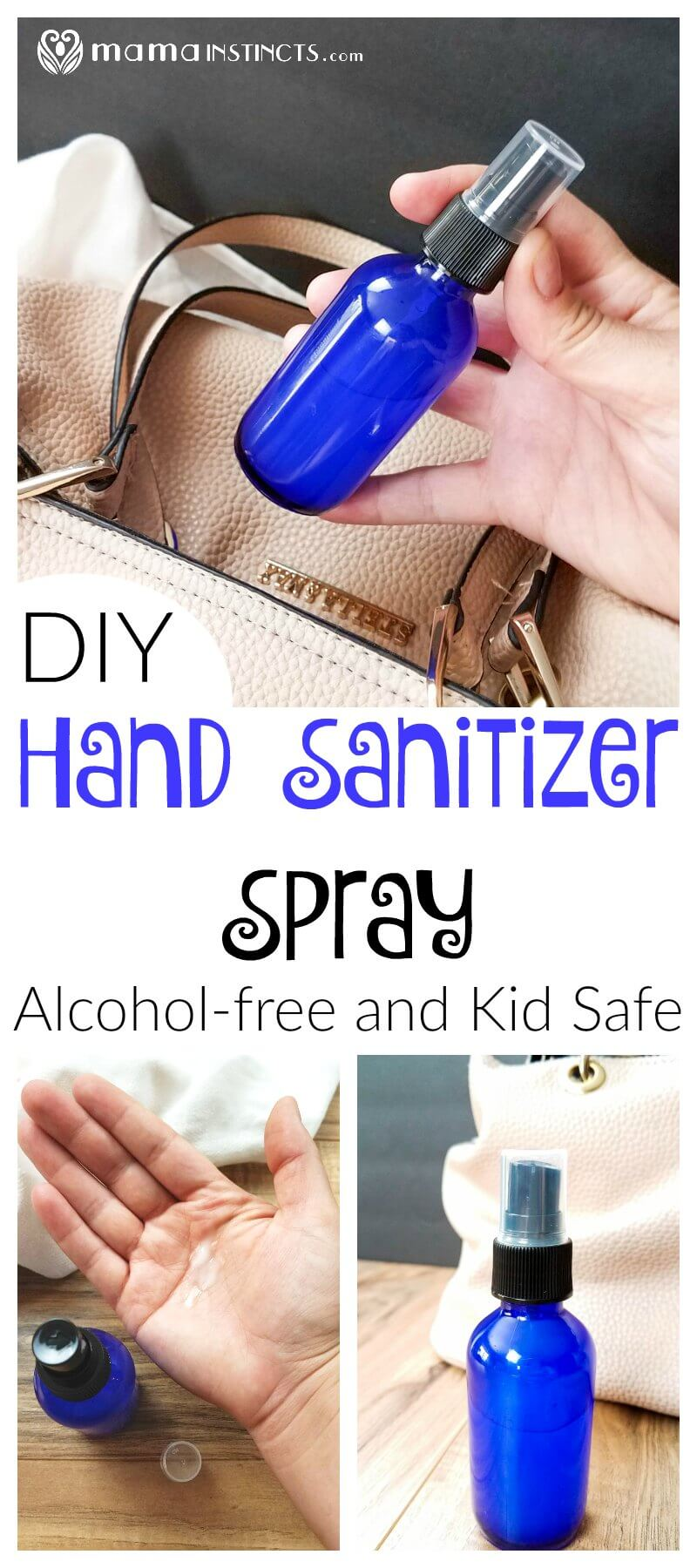 Try this kid-safe, non-toxic and effective hand sanitizer recipe. This DIY hand sanitizer is gentle on your hands and kills germs. Plus it only takes a minute to make.