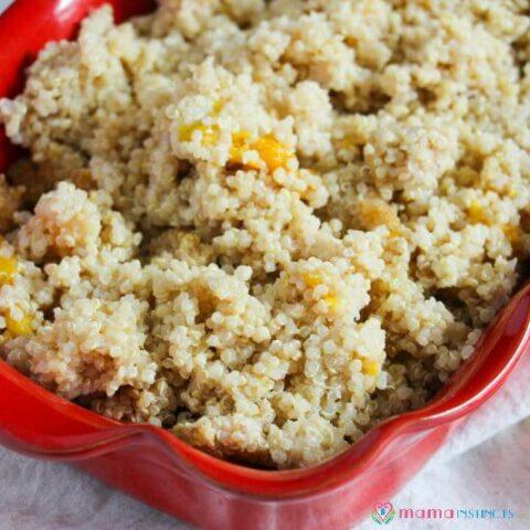 Instant Pot Peaches and Cream Quinoa