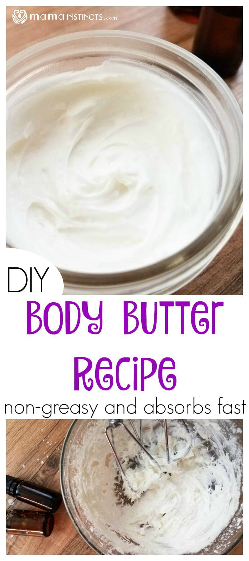Are you tired of greasy body butters? Try this DIY body butter recipe. It absorbs really fast and doesn't leave a greasy residue. Perfect for your morning beauty routine.
