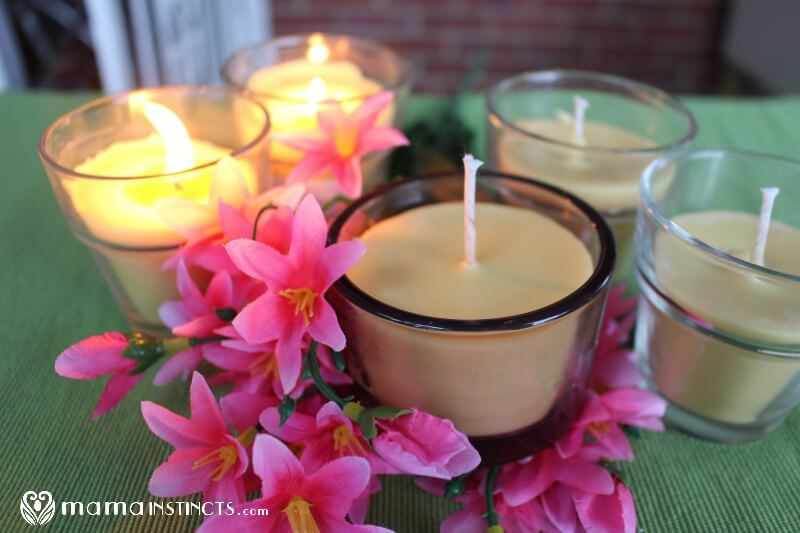 Easy way to make beeswax candles with essential oils