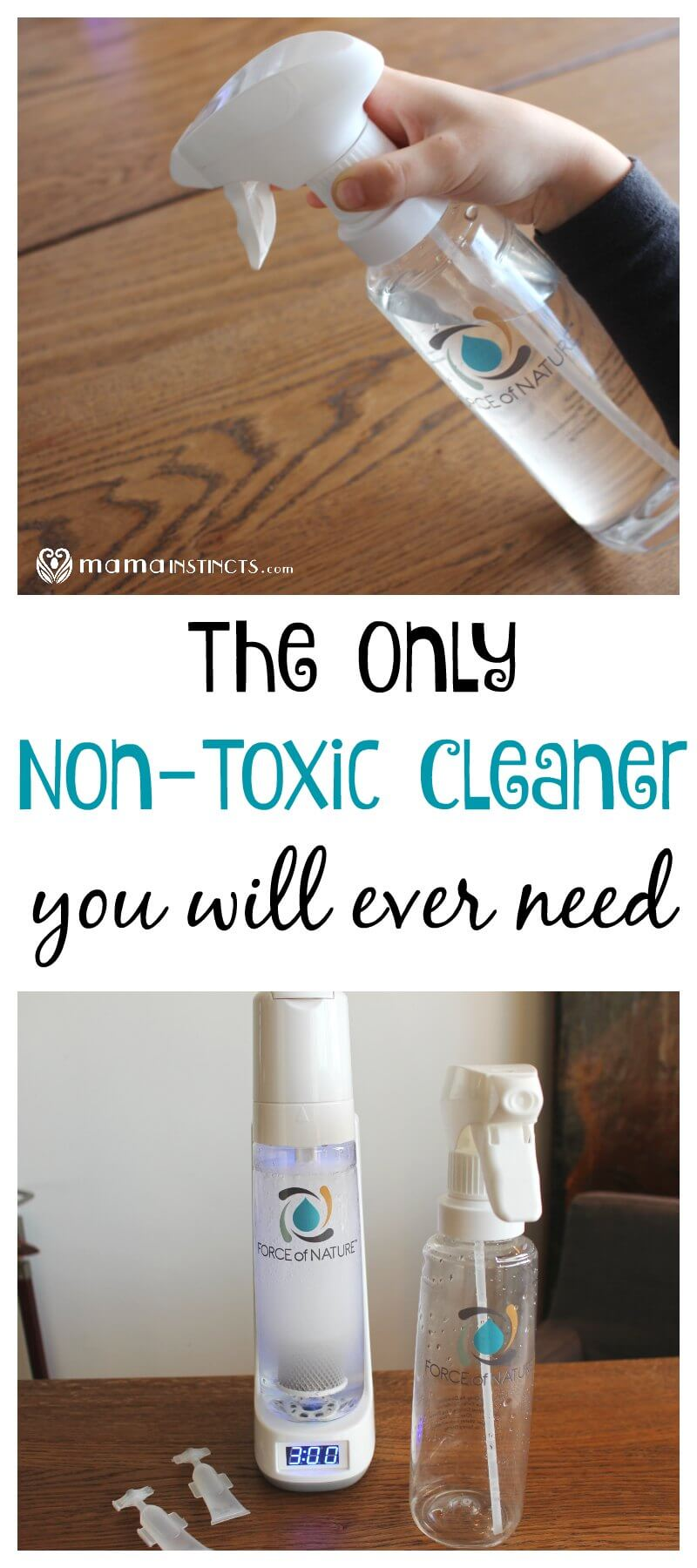 Non-toxic cleaners that actually work seem like a rare unicorn, that is, until Force of Nature came along. Check out this amazing technology that turns water, salt and vinegar into a non-toxic cleaner that will replace all your cleaners and is safe for kids. #nontoxic #greenliving