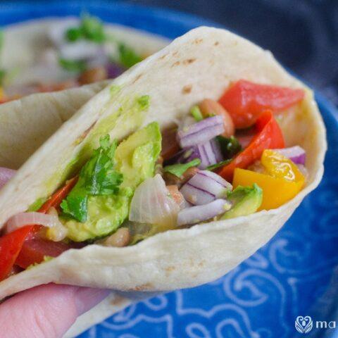 Instant Pot Vegan Bean Tacos
