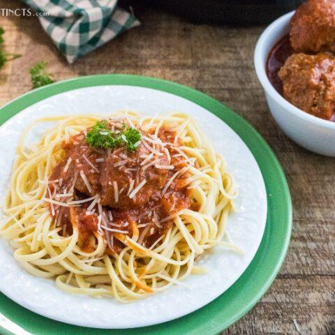 instant pot spaghetti sauce and meatballs